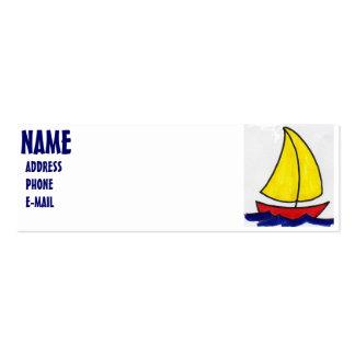 SAILBOAT PROFILE CARD BUSINESS CARD TEMPLATE