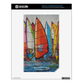 Sailboat Puzzle Pic Decals For The NOOK Color