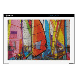 """Sailboat Puzzle Pic 17"""" Laptop Decal"""
