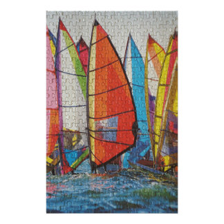 Sailboat Puzzle Pic Personalized Stationery
