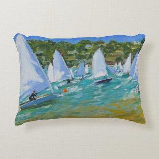 Sailboat Race Decorative Pillow