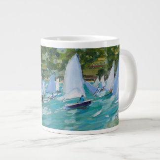 Sailboat Race Large Coffee Mug