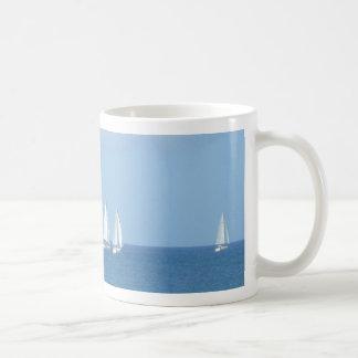 Sailboat Race Classic White Coffee Mug