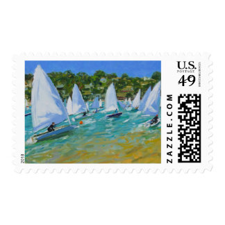 Sailboat Race Stamp