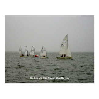 Sailboat race postcard