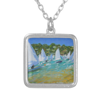 Sailboat Race Silver Plated Necklace