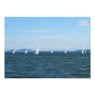 Sailboat Races Personalized Invite