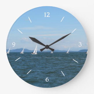 Sailboat Races Large Clock