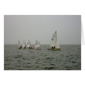 Sailboat races on the Great South Bay in Bellport Card