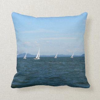 Sailboat Races Throw Pillows