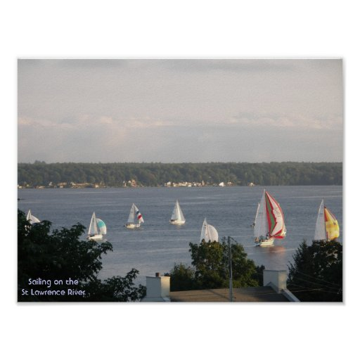 Sailboat Racing - Brockville Ontario Canada Poster