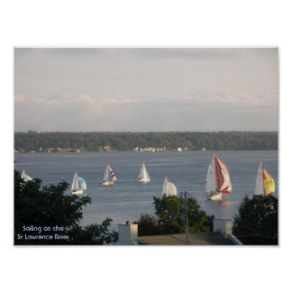 Sailboat Racing - Brockville Ontario Canada Print