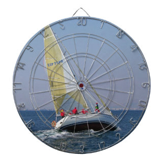 Sailboat Racing On Mar Menor Dart Board