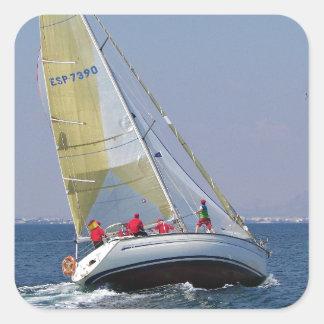 Sailboat Racing On Mar Menor Square Sticker