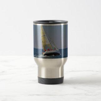 Sailboat Racing On Mar Menor Travel Mug