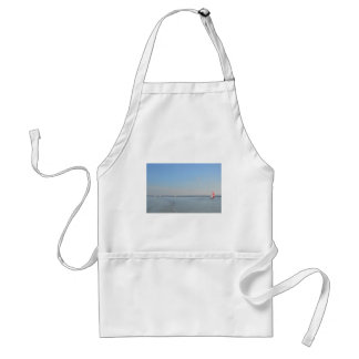 Sailboat Racing On The Thames Adult Apron