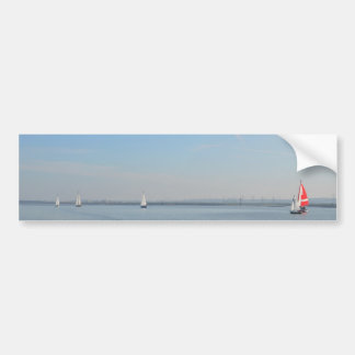 Sailboat Racing On The Thames Car Bumper Sticker
