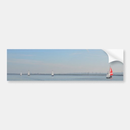 Sailboat Racing On The Thames Bumper Stickers