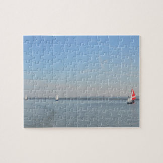 Sailboat Racing On The Thames Jigsaw Puzzle