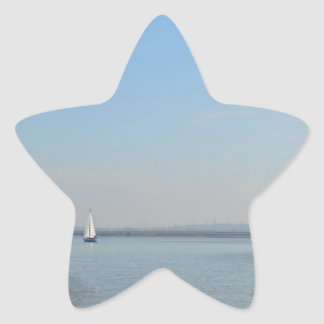 Sailboat Racing On The Thames Star Sticker