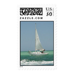 Sailboat Racing Postage