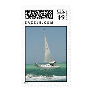 Sailboat Racing Postage