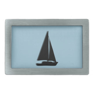 Sailboat Rectangular Belt Buckle