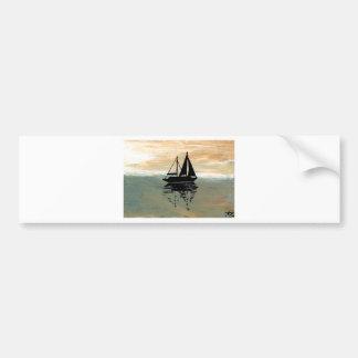 SailBoat Reflections CricketDiane Ocean Stuff Bumper Sticker