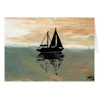 SailBoat Reflections CricketDiane Ocean Stuff Card