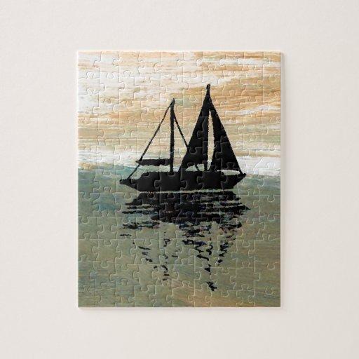 SailBoat Reflections CricketDiane Ocean Stuff Jigsaw Puzzle