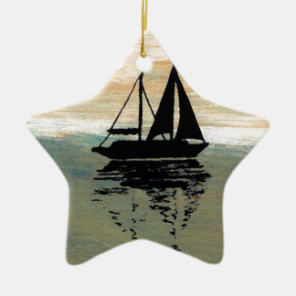 SailBoat Reflections CricketDiane Ocean Stuff Christmas Ornament