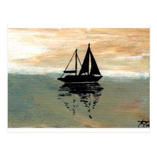 SailBoat Reflections CricketDiane Ocean Stuff Postcard