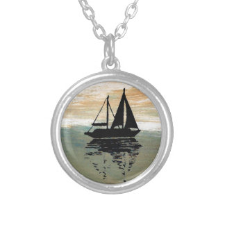 SailBoat Reflections CricketDiane Ocean Stuff Silver Plated Necklace
