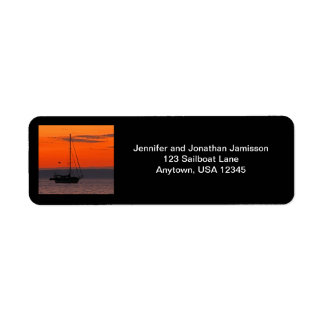 Sailboat Return Address Labels