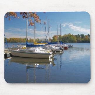 sailboat row mouse pad