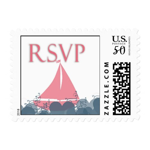 Sailboat rsvp postage
