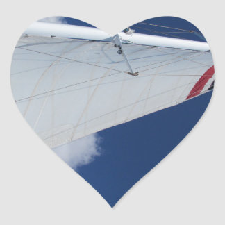 Sailboat Sail Heart Sticker