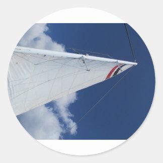 Sailboat Sail Round Stickers