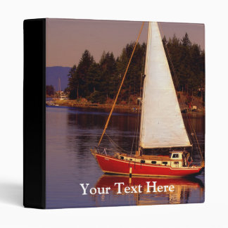 Sailboat Sailing at Sunset Photo Binder