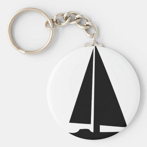 sailboat - sailing boat key chains