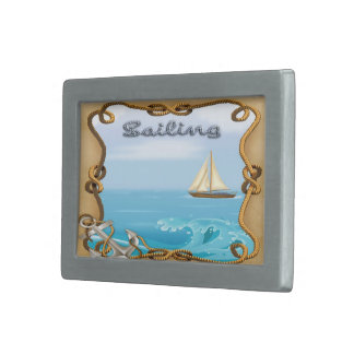 Sailboat - Sailing Rectangle Belt Buckle
