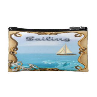 Sailboat - Sailing Small Cosmetic Bag