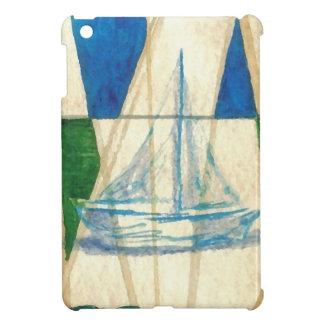 Sailboat Sailing Watercolor Vintage Look Art iPad Mini Cases