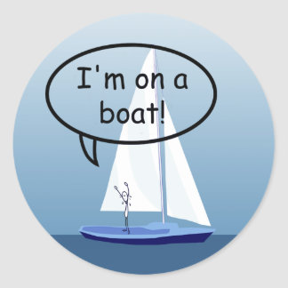 Sailboat Sailor on a Boat Funny Sticker