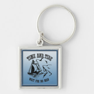 Sailboat Sailor Time and Tide Premium Keychain
