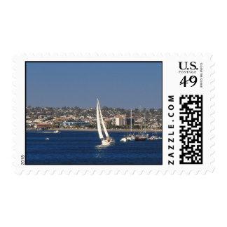 Sailboat, San Diego, California Stamps