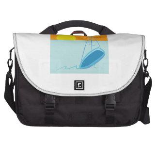 Sailboat Scene Laptop Messenger Bag