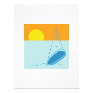 Sailboat Scene Letterhead Design