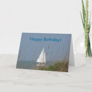 sailboat birthday cards zazzle
