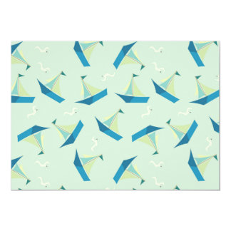 Sailboat & Seagull Pattern Card
